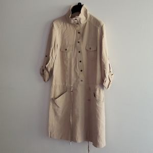 caché military inspired camel coloured dress